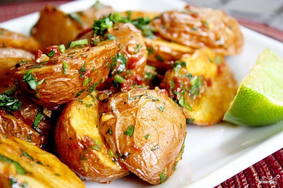 Рецепт Пряный сладкий картофель с лаймом