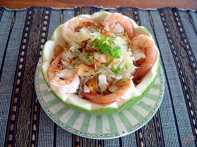 Салат из помело и креветок - фото шаг 8