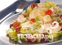 Рецепт Куриный салат с виноградом, орехами и каперсами