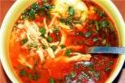 Суп из курицы с помидорами