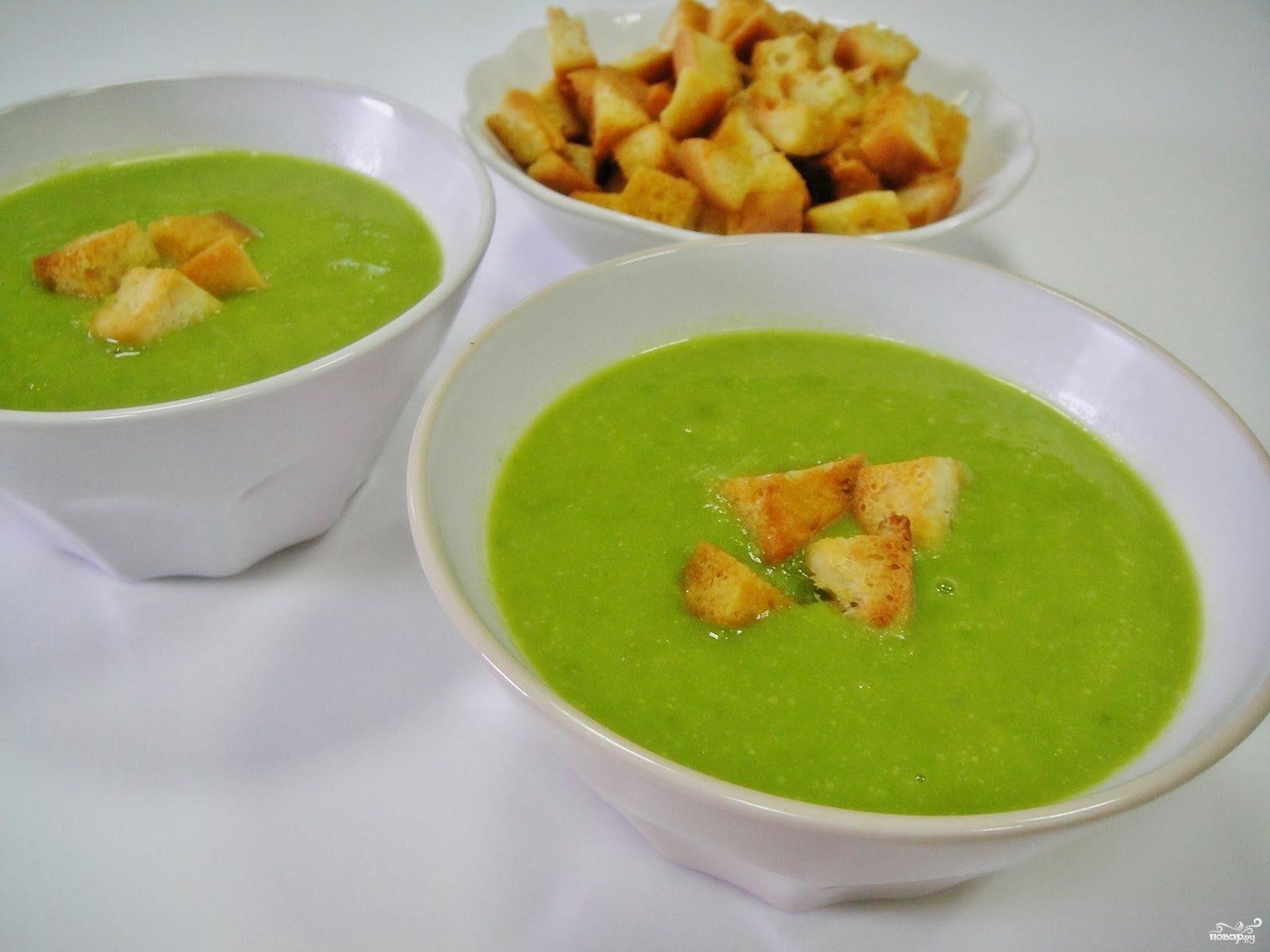 Суп из замороженного горошка