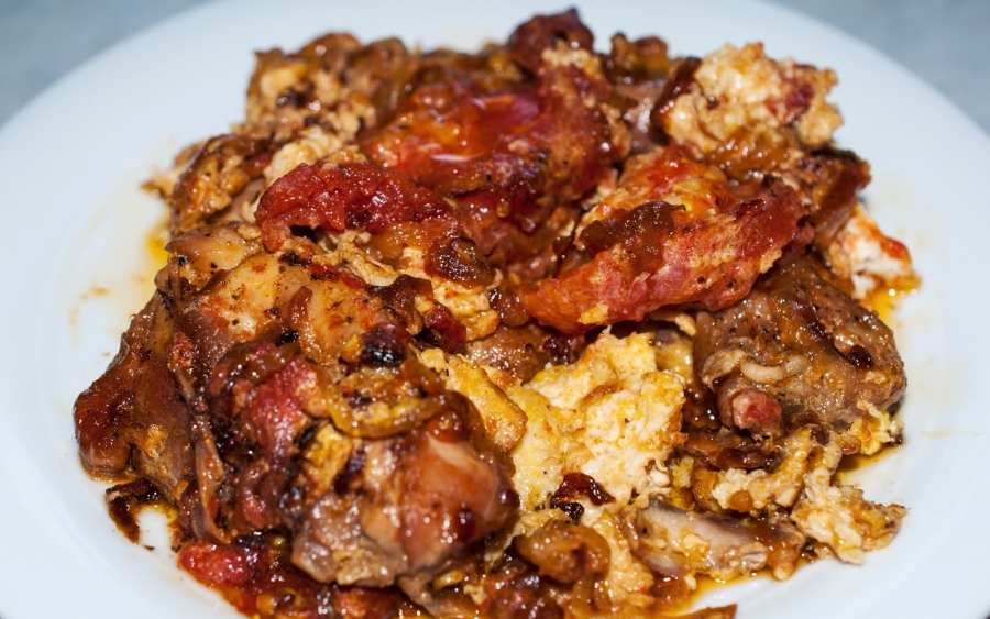 Курица с помидорами - фото шаг 14