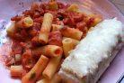 Ригатони с томатным соусом