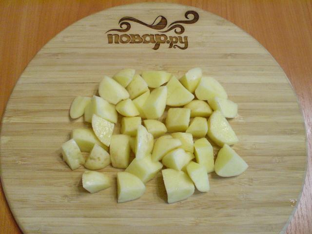 Тушеная картошка с грибами в мультиварке - фото шаг 5
