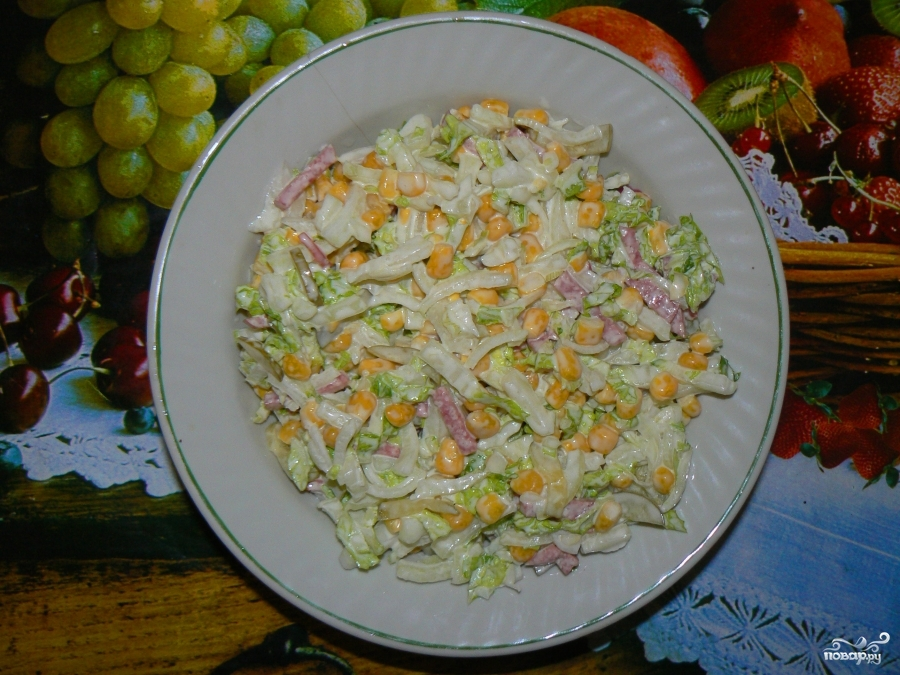 рецепт из салат из китайской капусты