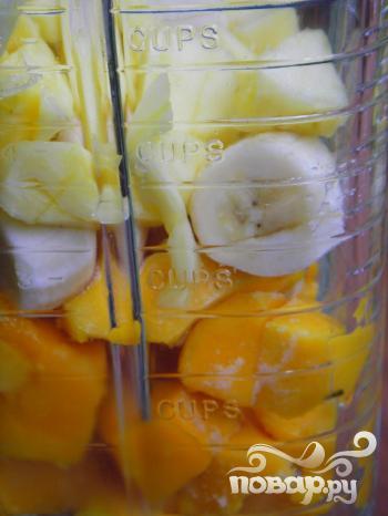 Зеленый витаминный напиток Тропик - фото шаг 3