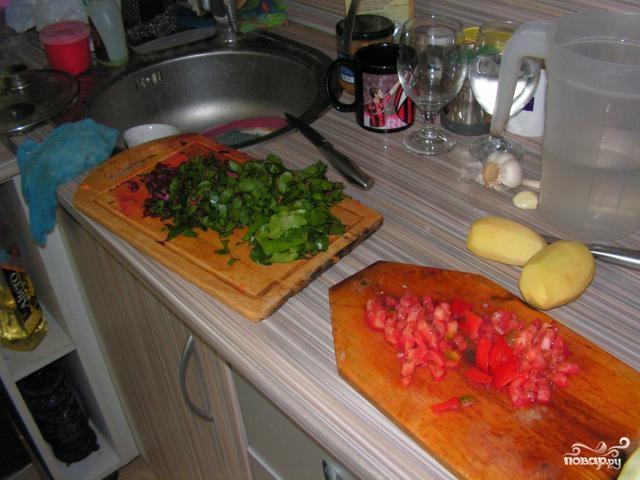 Суп из свекольной ботвы - фото шаг 5