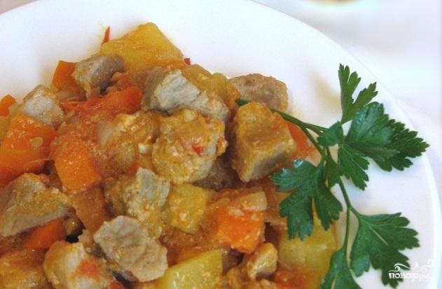 Рецепт Гуляш с кабачками