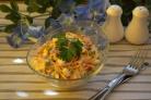 Салат Восторг с корейской морковкой