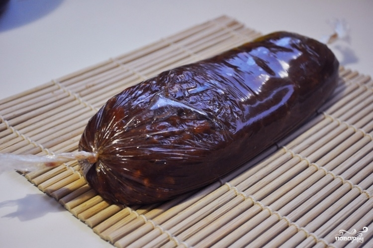 Кондитерская колбаса из печенья - фото шаг 4
