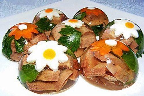 Рецепт Заливное из свиного языка