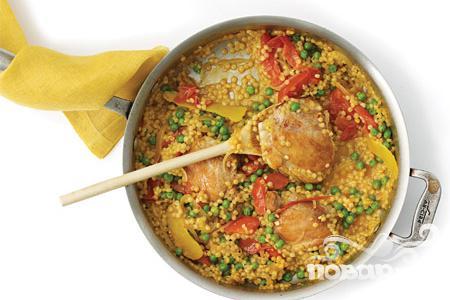 Рецепт Курица с кус-кус и помидорами