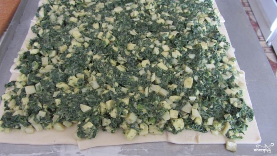 Слоеный пирог со шпинатом - фото шаг 5
