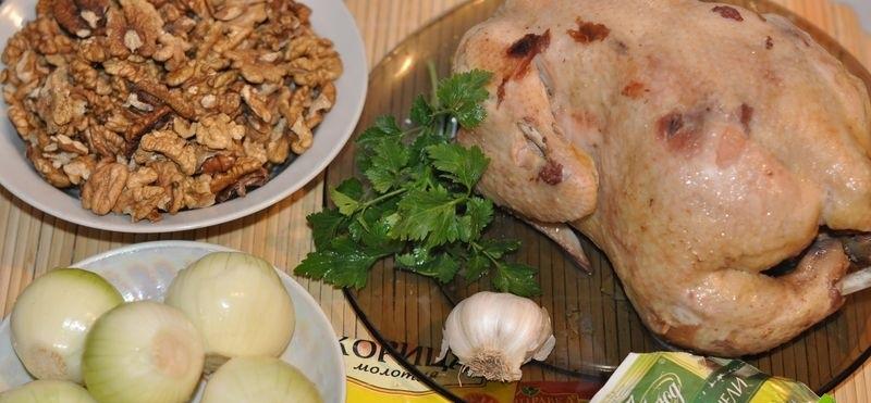 Сациви из курицы по-грузински в мультиварке пошаговый рецепт с фото