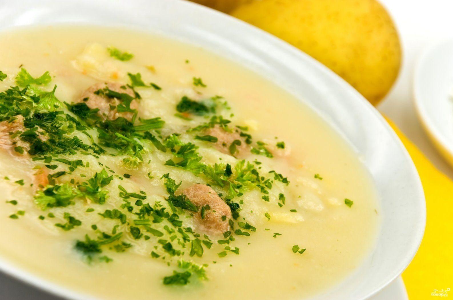 Суп-пюре из опят