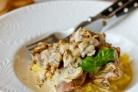Вырезка в сливочно-грибном соусе