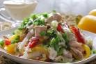 Салат Радуга с куриным филе