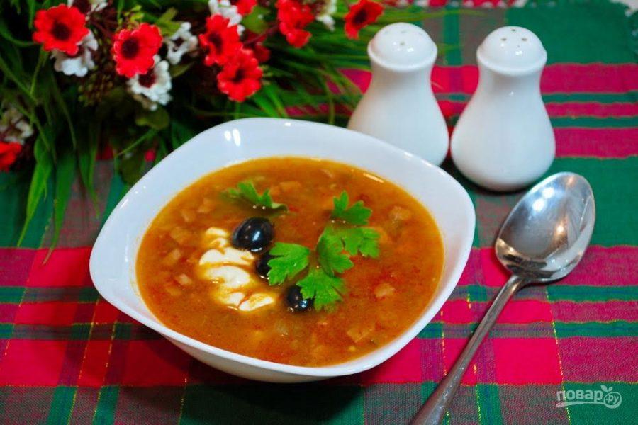 Солянка мясная сборная пошаговый рецепт в домашних условиях 608