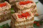 Закусочные пирожные из сельди