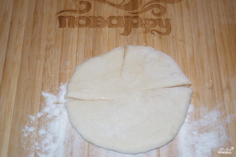 Пирожки с творогом из дрожжевого теста - фото шаг 4