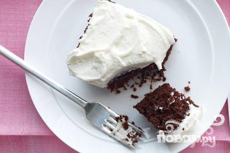 Шоколадный пирог с ванилью