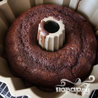 Шоколадный кекс со сливочной глазурью - фото шаг 5