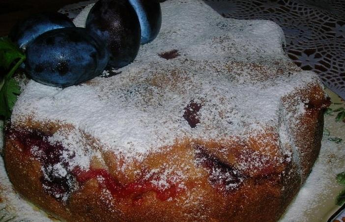 Сливовый пирог на скорую руку - фото шаг 6
