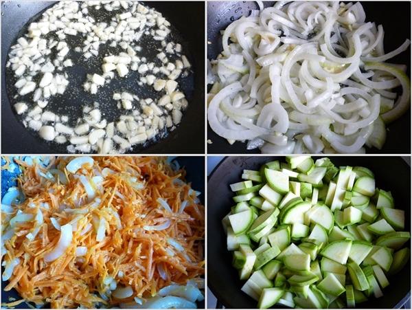 Кабачки с морковью и луком - фото шаг 3