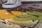 Творожный торт с фруктами без выпечки