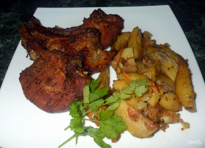 Свиные стейки в духовке рецепты