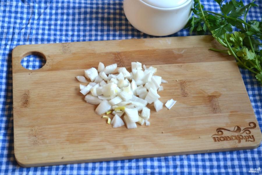 Салат с печенкой и корейской морковкой - фото шаг 3