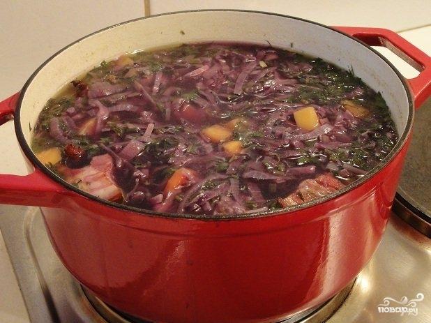 Суп из красной капусты - фото шаг 6