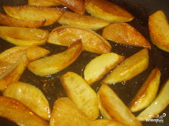 как пожарить картошку с грибами вареными