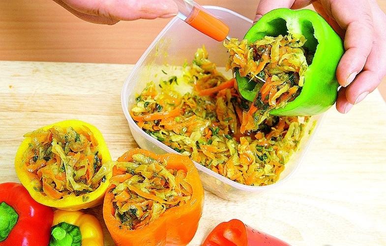 Болгарский перец, фаршированный овощами - фото шаг 5