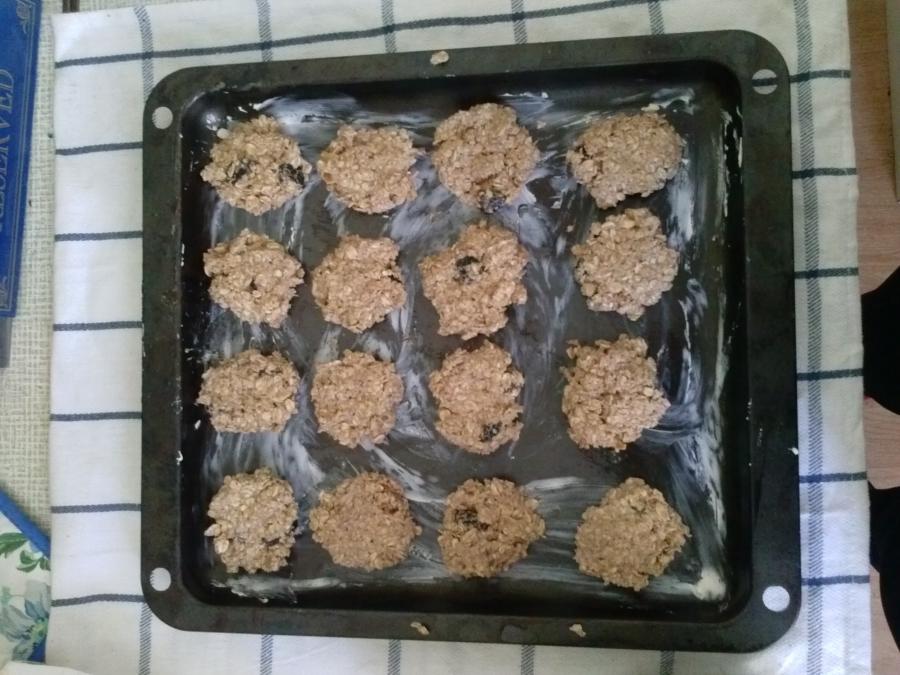 Овсяное печенье с сухофруктами - фото шаг 15