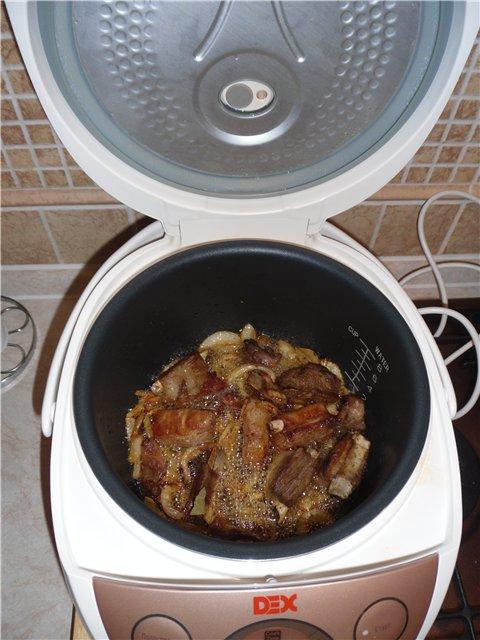 Картофель вкусный с ребрышками в мультиварке - фото шаг 3