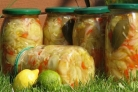 Огурцы с перцем на зиму