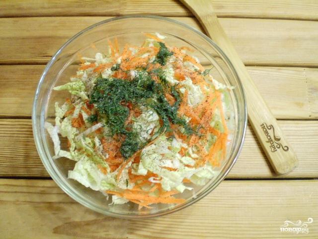 Рецепт капусты по корейски с шафраном фото