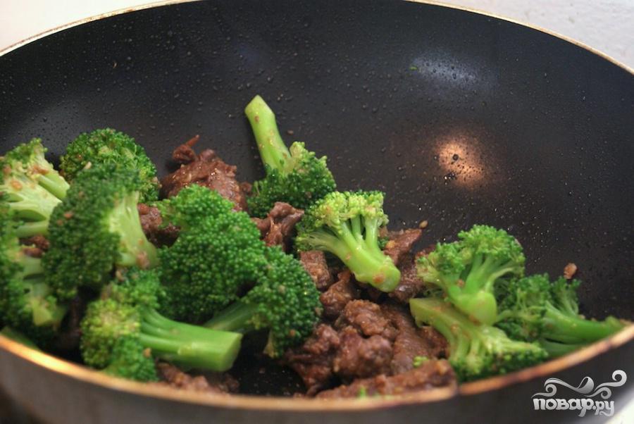 Говядина с брокколи под устричным соусом - фото шаг 7