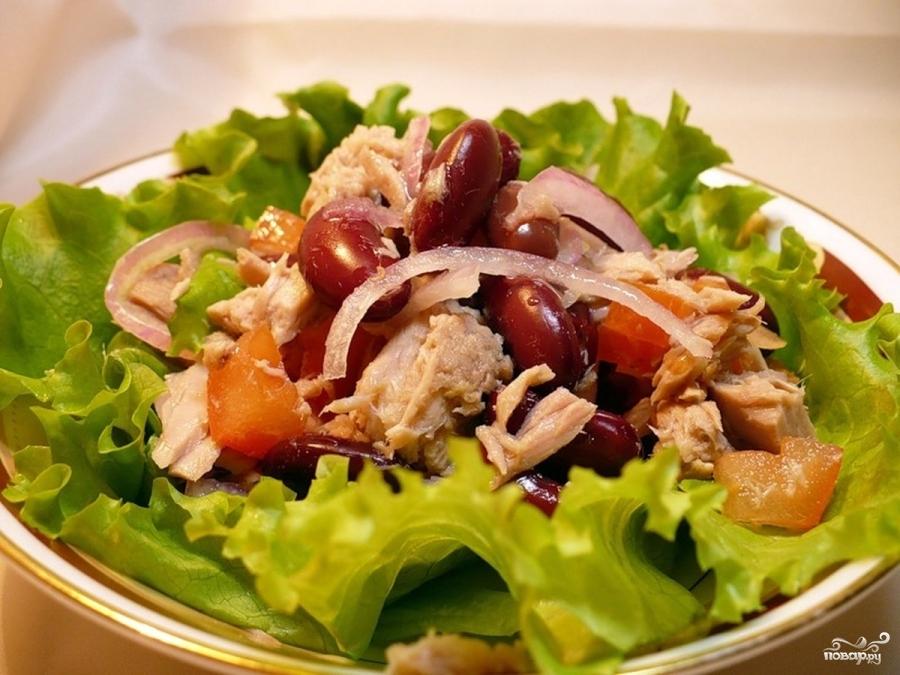 Салат с красной фасолью - фото шаг 7