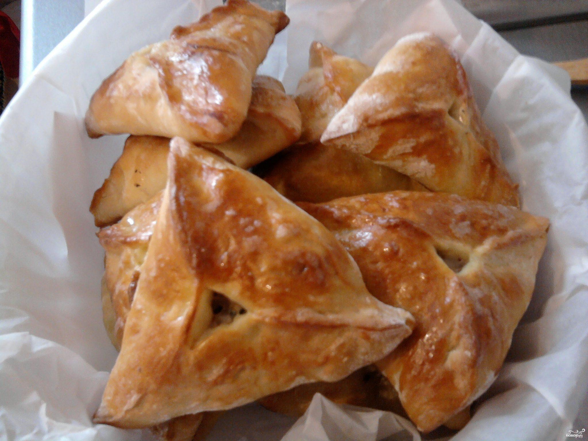 Треугольники с курицей и картошкой