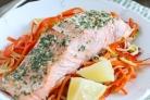 Рыба в духовке с овощами