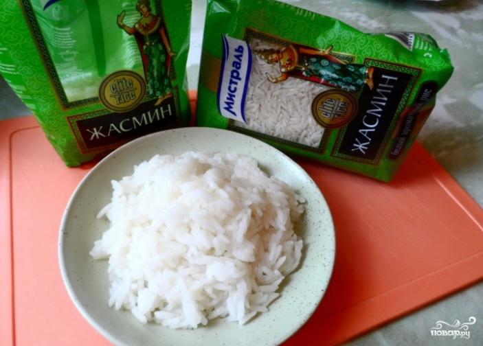 Заливной пирог с рыбой и рисом - фото шаг 1