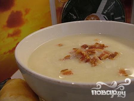 Суп из цветной капусты с беконом - фото шаг 6