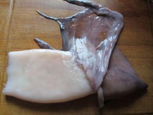 Рецепт Кальмары, фаршированные омлетом и шампиньонами