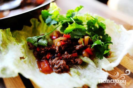 Индейка и салат-латук