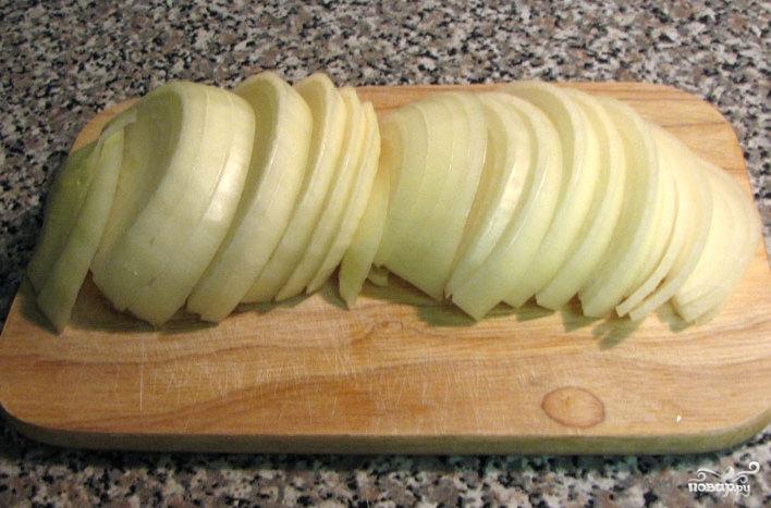 Картофель с грибами в духовке - фото шаг 4