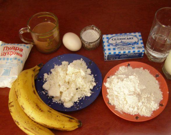 Рецепт Блинчики из банана и яйца