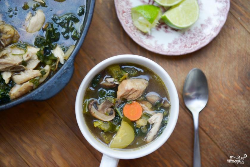 Рецепты куриных супов с овощами