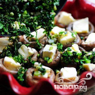 Фаршированные грибы с сыром Бри - фото шаг 13